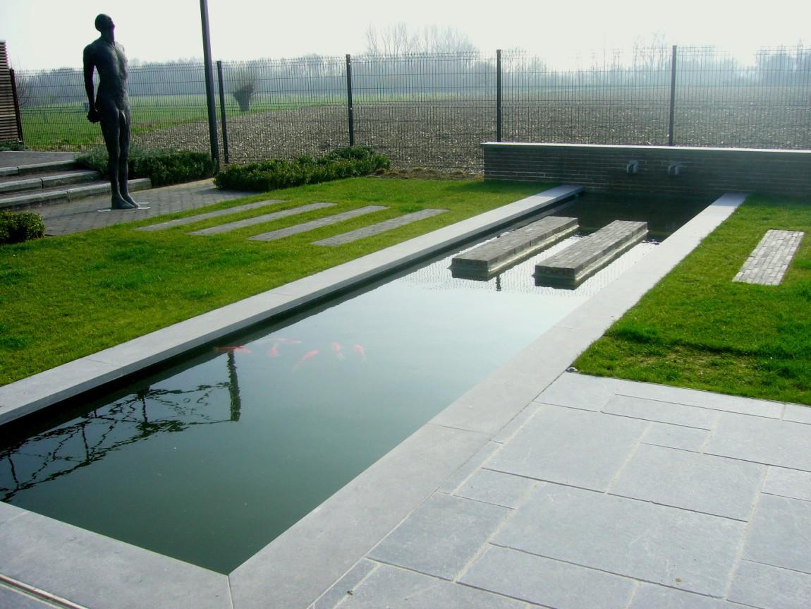 Diensten tuinen rigole bvba for Waterpartij in de tuin